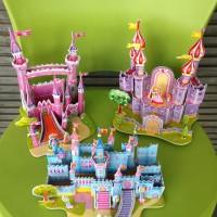 3D Puzzle Edisi Castle Istana Mainan Anak Mudah Rangkai Kualitas Tebal