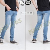 Celana Jeans Pensil Pria Biru Muda   Skinny Pants For Men