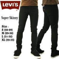 Celana Jeans Pensil Pria Warna Hitam | Skinny Pants For Men