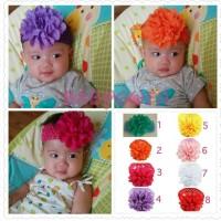 pita bando bandana bunga besar bayi anak perempuan headband
