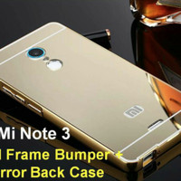 Xiaomi Redmi Note 3 Bumper Hard Case Mirror Aluminium With Back Case P