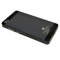 Aluminium Tempered Glass Hard Case for Xiaomi Mi4i - Black/Black
