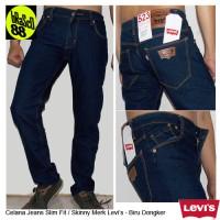 Celana Jeans Pensil Pria Biru Hitam Dongker Garmen   Skinny Pants