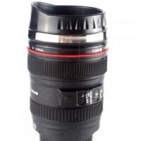 Mug Gelas Lensa Caniam Stainless Steel Unik Kamera bukan Canon Nikon