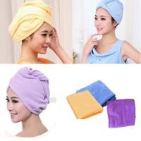 hair wrap magic towel,handuk pengering rambut,menyerap air hbs kramas