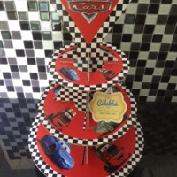 cupcake stand 3 tier the cars Disney cilukba party