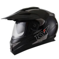 Helm KYT Enduro Super Moto Cross Visor Supermoto Black Solid