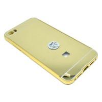 Aluminium Tempered Glass Hard Case for Xiaomi Mi5 - Gold