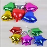 balon foil love dan bintang