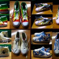 sepatu lukis px star high and low