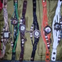 Jam tangan etnik unik fashion bandul bertali gelang tribal
