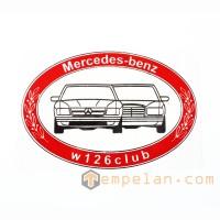 STICK ON MERCEDES - BENZ W 126 CLUB