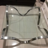 Coffee Table Informa Minimalis (Tempered Glass 1,5cm)