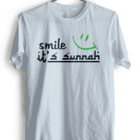 Kaos SMILE :-) it's SUNNAH