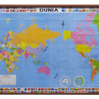 Peta Dunia (Bingkai)
