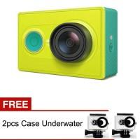 CAMERA XIOMI YI - GREEN, FREE 2pcs Case Underwater