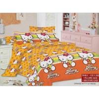 AIUEO Orange Kitty & Friends Sprei Single