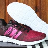 Adidas Adizero Knit 2.0 Merah Strip Pink(sepatu running,kets,olahraga)