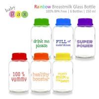 Baby PAx Babypax rainbow botol kaca ASI 150 ml