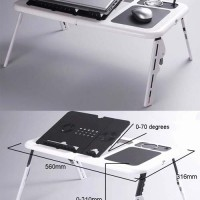 Meja Laptop Portable With Kipas Pendingin (Fan Cooler)