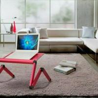 Meja Laptop Lipat Portable Predator Unik Pink