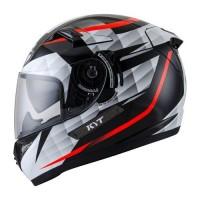 Helm KYT K2 Rider Full Face K2Rider Visor Black White Diamond
