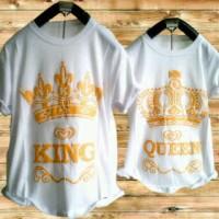 Kaos Couple King Queen