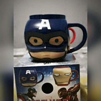 3D Mug Captain America And Iron Man