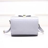 tas kotak fashion korea motif timbul abu ready stock murah sederhana