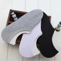 Kaos Kaki hidden sock COWO CEWE PRIA WANITA hitam putih abu abu kulit