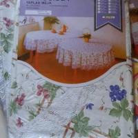 TableCloth / Taplak Meja Makan Vinnyl Bulat 4 Kursi @60 = 150cm