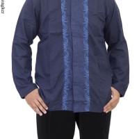Baju Koko Lengan Panjang Motif Bordir Bahan Katun CRV