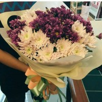 buket bunga aster + krisan