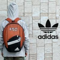 Tas Ransel adidas orange (tas sekolah,tas sepatu,tas futsal/bola