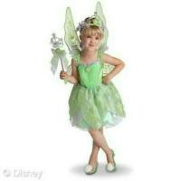 Kostum Dress Tinkerbell Hijau Premium Import Set Sayap Dan Aksesoris