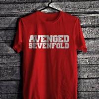 Kaos/Tshirt Gildan Avenged Sevenfold Merah