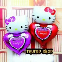 balon foil hello kitty love