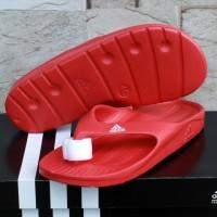 Sandal Adidas Duramo Thong Merah (Sendal,Selop,Slide,Nike,New Balance)