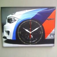 kado ulang tahun jam dinding kotak - BMW wheel