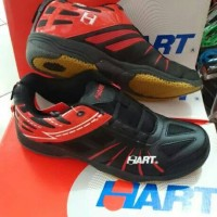 Sepatu Badminton Hart HS 703 Black Red