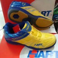 Sepatu Badminton Hart HS 703 Yellow Blue