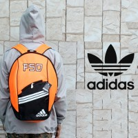 Tas Ransel ,sekolah,olahraga,sport,gendong Adidas F50 Orange Hitam