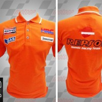 Jual kemeja,kaos kerah, Kaos polo Racing MotoGP Honda Repsol Orange