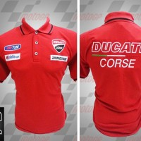 Jual kemeja,kaos kerah, Kaos polo Racing MotoGP Ducati Corse Merah