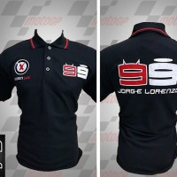 Jual kemeja,kaos kerah, Kaos polo Racing MotoGP Lorenzo Hitam