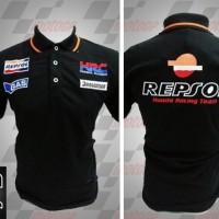 Jual kemeja,kaos kerah, Kaos polo Racing MotoGP Honda Repsol Hitam