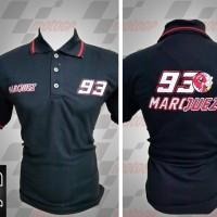 Jual kemeja,kaos kerah, Kaos polo Racing MotoGP Marc Marquez Hitam