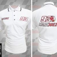 Jual kemeja,kaos kerah, Kaos polo Racing MotoGP Marc Marquez Putih