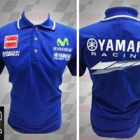 Jual kemeja,kaos kerah, Kaos polo Racing MotoGP Yamaha Movistar Biru