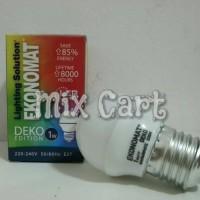 Lampu Tidur LED Ekonomat Deko 1 Watt - Kuning (Warm White)